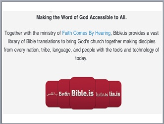 Free Internet Bibles and Bible Stories for Gospel Outreach around